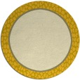 rug #1045450 | round plain yellow rug