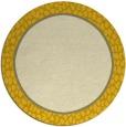 rug #1045450 | round yellow borders rug