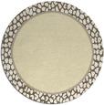 rug #1045454 | round plain yellow rug