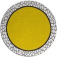 rug #1045458 | round plain yellow rug