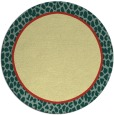 rug #1045466 | round plain yellow rug