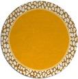 rug #1045486 | round plain light-orange rug