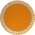 rug #1045494   round plain light-orange rug