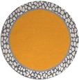 rug #1045498 | round plain light-orange rug