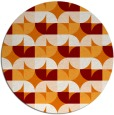 rug #104553 | round orange natural rug