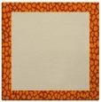 rug #1045870 | square orange popular rug