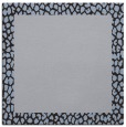 rug #1045982 | square plain blue-violet rug