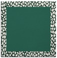 rug #1046006 | square plain green rug