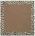 rug #1046026 | square plain mid-brown rug