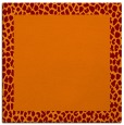 rug #1046074 | square orange animal rug