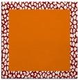 rug #1046078 | square plain orange rug