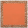 rug #1046082 | square plain orange rug