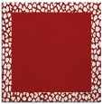 rug #1046130 | square plain red rug