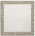 rug #1046182 | square plain white rug