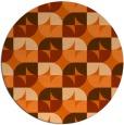 rug #104621 | round red-orange natural rug