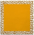 rug #1046222 | square plain light-orange rug