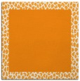 rug #1046230 | square plain light-orange rug