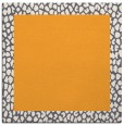 rug #1046234 | square plain light-orange rug