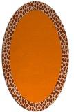 rug #1046241 | oval plain rug