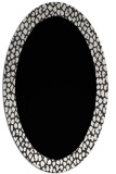rug #1046242 | oval plain white rug
