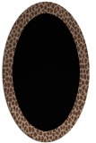 rug #1046254 | oval brown rug