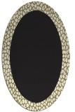 rug #1046262 | oval plain black rug