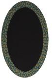 rug #1046266 | oval plain brown rug