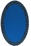 rug #1046270 | oval blue borders rug
