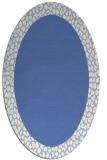 rug #1046286 | oval blue borders rug