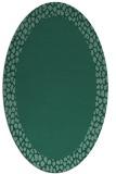 rug #1046294 | oval plain blue-green rug