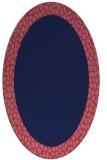 rug #1046334 | oval blue-violet animal rug