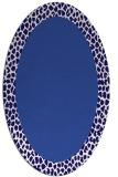 rug #1046342 | oval plain blue-violet rug