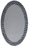 rug #1046350 | oval plain blue-violet rug