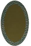 rug #1046354 | oval plain brown rug