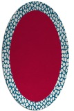 rug #1046358 | oval red animal rug