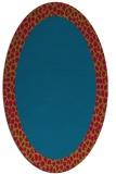 rug #1046362 | oval plain blue-green rug