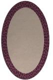 rug #1046402   oval pink animal rug