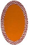 rug #1046446 | oval orange borders rug