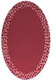 rug #1046466 | oval plain pink rug
