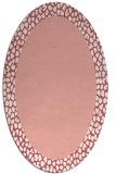 rug #1046470 | oval plain pink rug