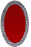 rug #1046490 | oval red animal rug