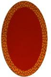 rug #1046494 | oval plain red rug