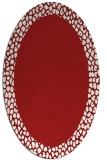 rug #1046498 | oval plain red rug