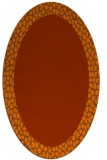 rug #1046506 | oval plain red-orange rug