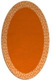 rug #1046510 | oval red-orange borders rug