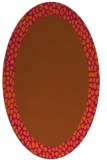rug #1046514 | oval plain red-orange rug