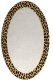 rug #1046538 | oval plain brown rug