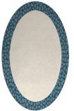 rug #1046546 | oval plain white rug
