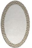 rug #1046550 | oval plain white rug