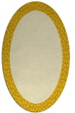 rug #1046554 | oval plain yellow rug